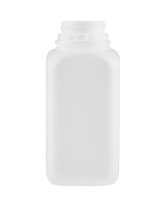 12 oz. Natural HDPE Plastic Tamper Evident Rectangular Bottle, 38mm 38-400