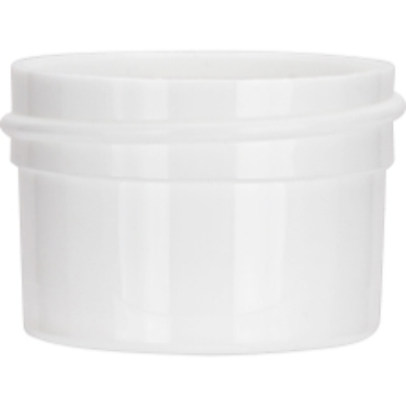 1/2 oz. White PP Plastic Jar, Straight Sided, 43mm 43-400