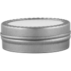 1/2 oz. Flat Seamless Slip Cover Can with Labeled Lid