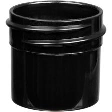 1/4 oz. Black PP Plastic Jar, Straight Sided, 33mm 33-400