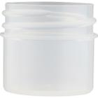 1/4 oz. Clarified Natural PP Plastic Jar, Straight Sided, 33mm 33-400