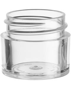 1/4 oz. Clear Thick Wall Plastic Jar, Straight Sided, 33mm 33-400