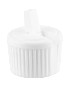 24mm 24-410 White Spouted Turret Cap