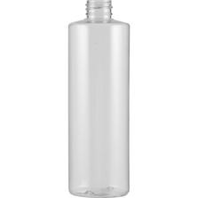 16 oz. Clear PVC Plastic Cylinder Bottle, 28mm 28-410