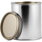1 Pint Metal Paint Can with Lid, Gold Phenolic Lined