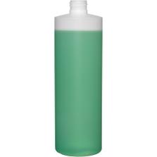 16 oz. Natural HDPE Plastic Cylinder Bottle, 24mm 24-410