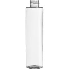 6.3 oz. Clear PET Plastic Slim Cylinder Bottle, 24mm 24-410