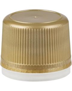 18mm Gold Tamper Evident Plastic Cap