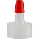 18mm 18-400 Natural Spout Cap with Red Sealer Tip