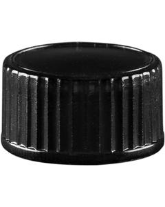 18mm 18-400 Black Phenolic Cap w/Poly Cone Insert (Polyseal®)