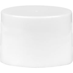 18mm 18-410 White Smooth Plastic Cap w/Foam Liner