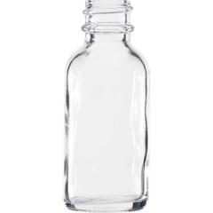 1 oz. Clear Boston Round Glass Bottle, 20mm 20-400
