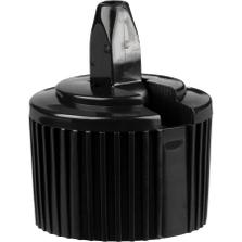 28mm 28-410 Black Turret Cap, 3.2mm Orifice