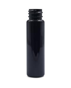 1 oz. Dark Amber PET Plastic Cylinder Bottle, 20mm 20-SP