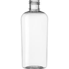1 oz. Clear PET Plastic Oval Bottle, 15mm 15-415