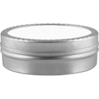 1 oz. Flat Seamless Slip Cover Can with Labeled Lid