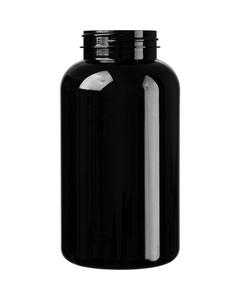 21 oz. (625 cc) Black PET Plastic Packer Bottle, 53mm 53-400