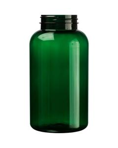 21 oz. (625 cc) Dark Green PET Plastic Packer Bottle, 53mm 53-400