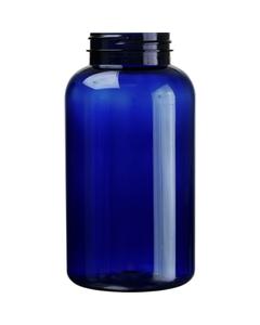 21 oz. (625 cc) Cobalt Blue PET Plastic Packer Bottle, 53mm 53-400