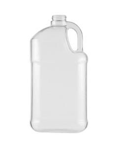 1 Gallon Clear PVC Plastic Square Jug, 38mm 38-400