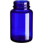 3 oz. (100 cc) Cobalt Blue Glass Packer Bottle, 38mm 38-400