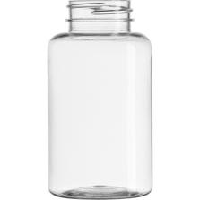 6.75 oz. (200 cc) Clear PET Plastic Packer Bottle, 38mm 38-400