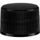 20mm 20-410 Black Ribbed (Smooth Top) Plastic Cap w/Foam Liner