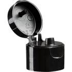 """24mm 24-410 Black Smooth Snap Top Cap, Unlined, .118"""" Orifice"""