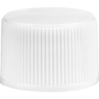 20mm 20-410 White Ribbed (Smooth Top) Plastic Cap w/Foam Liner