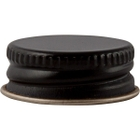 24mm 24-400 Black/Gold Metal Cap with Pulp & Poly Liner