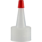 24mm 24-410 Natural Spout Cap with Red Sealer Tip