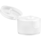 24mm 24-410 White Plastic Ribbed Snap Cap, Unlined
