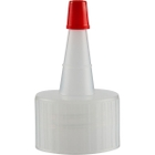 28mm 28-410 Natural Spout Cap with Red Sealer Tip
