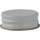 28mm White Metal Cap with Plastisol Liner