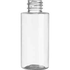 2 oz. Clear PET Plastic Cylinder Bottle, 20mm 20-410