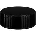 28mm 28-400 Black Phenolic Cap w/Foam Liner