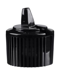 24mm 24-410 Black Turret Cap, 3.4mm Orifice