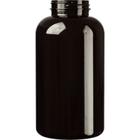 32 oz. (950 cc) Dark Amber PET Plastic Packer Bottle, 53mm 53-400