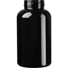 25 oz. (750 cc) Black PET Plastic Packer Bottle, 53mm 53-400