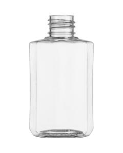 2 oz. Clear PET Plastic Square Oblong Bottle, 20mm 20-410