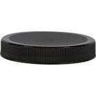 63mm 63-400 Black Ribbed (Matte Top) Plastic Cap w/Foam Liner (3-ply)