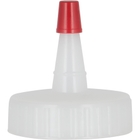 38mm 38-400 Natural Spout Cap with Red Sealer Tip, No Hole