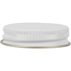 38mm White Metal Cap with Pulp and Poly Liner
