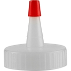 38mm 38-400 Natural Spout Cap with Red Sealer Tip