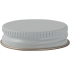 38mm White Metal Cap with Plastisol Liner