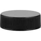 33mm 33-400 Black Ribbed (Smooth Top) Plastic Cap w/PV Liner