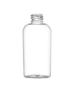 2 oz. Clear PET Plastic Oval Bottle, 20mm 20-415