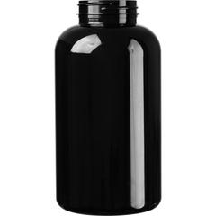 32 oz. (950 cc) Black PET Plastic Packer Bottle, 53mm 53-400