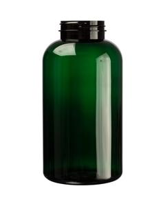 32 oz. (950 cc) Dark Green PET Plastic Packer Bottle, 53mm 53-400