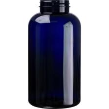 32 oz. (950 cc) Cobalt Blue PET Plastic Packer Bottle, 53mm 53-400